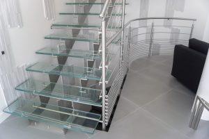 Scale in vetro e acciaio inox